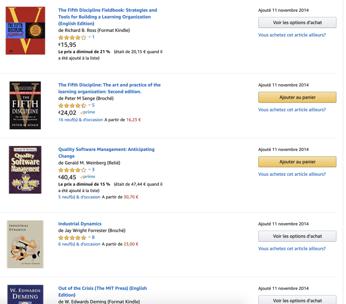 Amazon list of Agile and Lean books